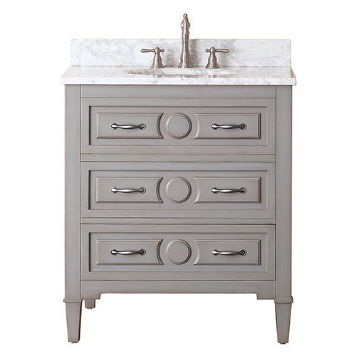 avanity kelly grayish blue 30 inch vanity only