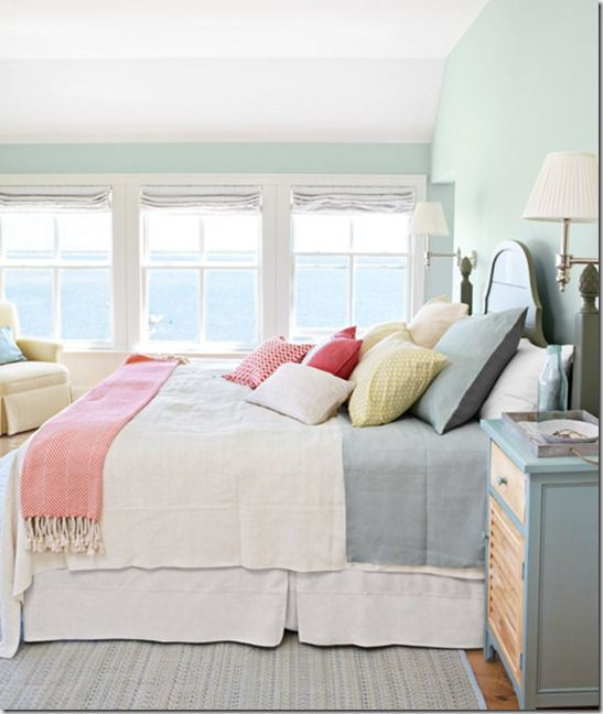 Like the wall color for girls room with coral accents