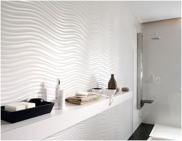 Wave accent wall