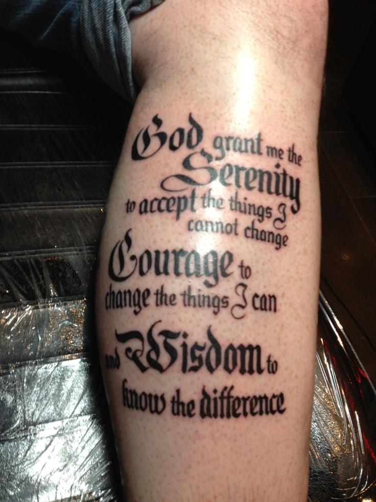 Serenity Prayer Tattoo On Ribs