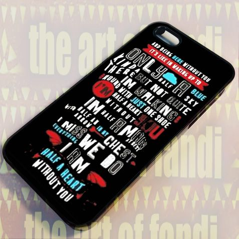 Absolutely Love One Direction For iPhone 4 or 4s Black Rubber Case