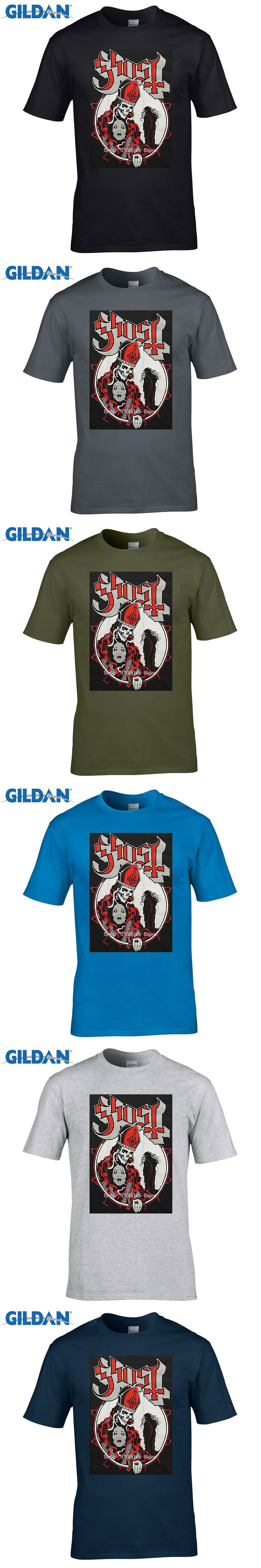 GILDAN  Promotion Fashion O-neck Broadcloth Cotton Print Tee Graphic Shirts Short Men Comfort Soft Ghost Bc Shirt