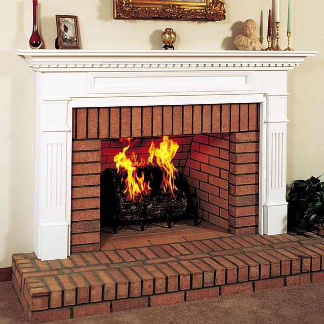 Wood Fireplace Surround Kit | Monticello 58421 Wood Fireplace Mantel Surround