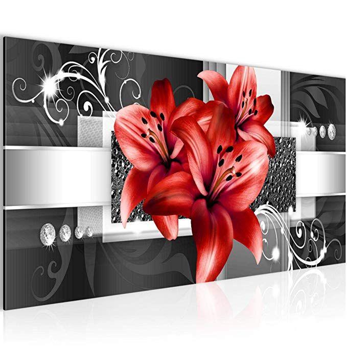 Affiliate Bilder Blumen Lilien Wandbild Vlies Leinwand Bild Xxl