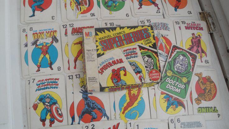 1960s Vintage Marvel Super Heroes Game Milton Bradley Complete by CraftySara on Etsy
