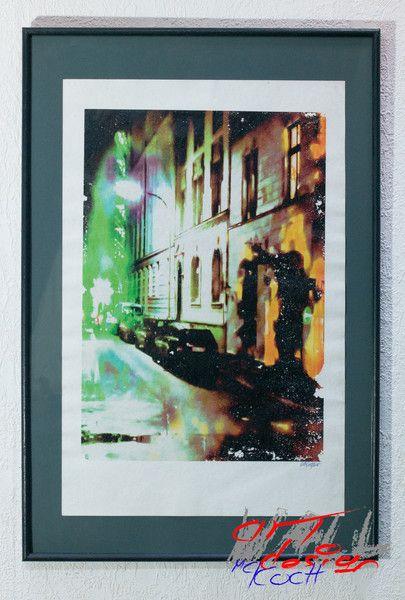 """NIGHTLY STREET SCENE"" von Wall Art Design auf DaWanda.com"