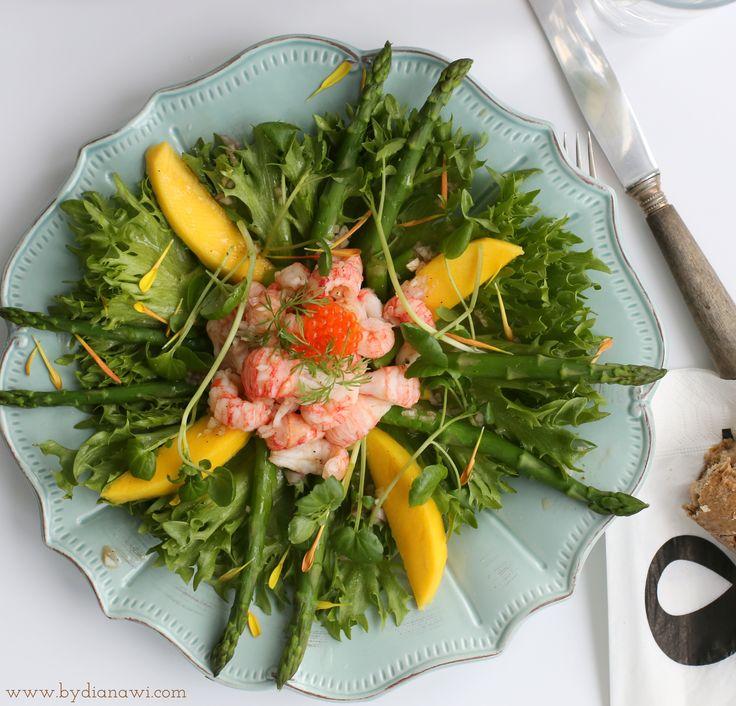 by dianawi, sprød hummersalat, crispy lobster salad, хрустящий салат омара