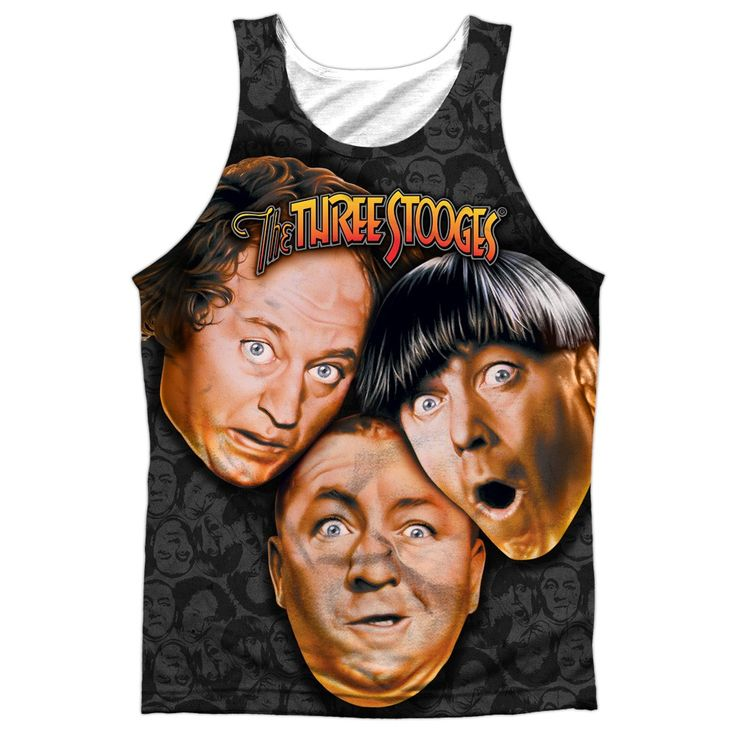 """Checkout our #LicensedGear products FREE SHIPPING + 10% OFF Coupon Code """"Official"""" Three Stooges/stooges All Over-adult 100% Poly Tank T- Shirt - Three Stooges/stooges All Over-adult 100% Poly Tank T- Shirt - Price: $24.99. Buy now at https://officiallylicensedgear.com/three-stooges-stooges-all-over-adult-100-poly-tank-t-shirt-licensed"""