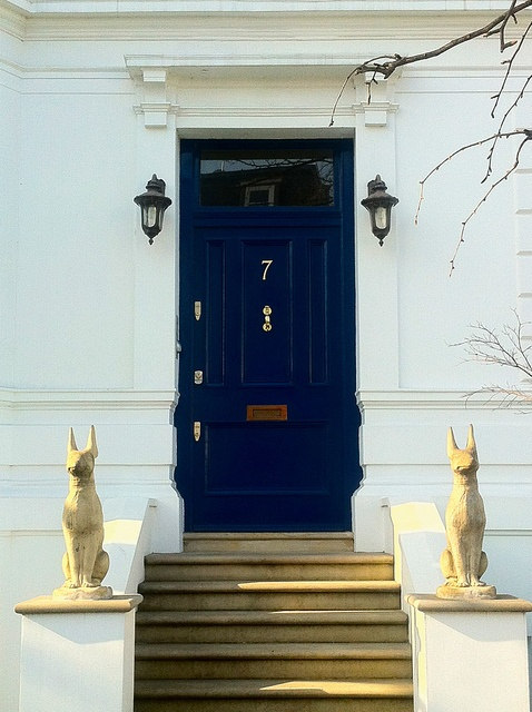 Guarded front door in Holland Park