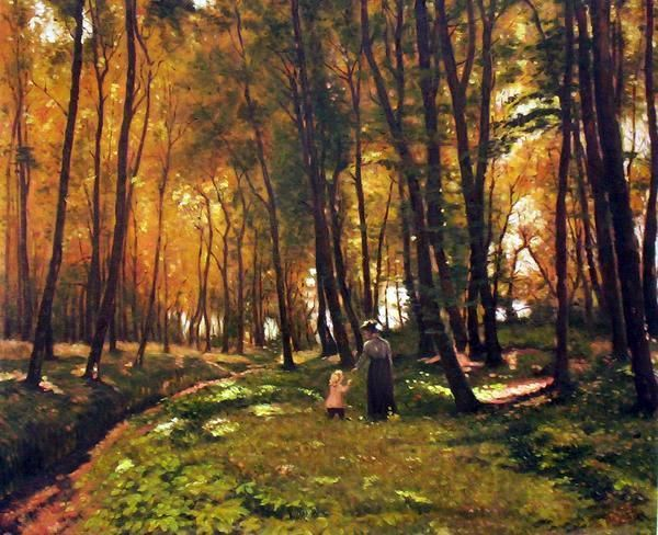 A Walk In The Wood Edvard Frederik Petersen (1841 – 1911, Danish)