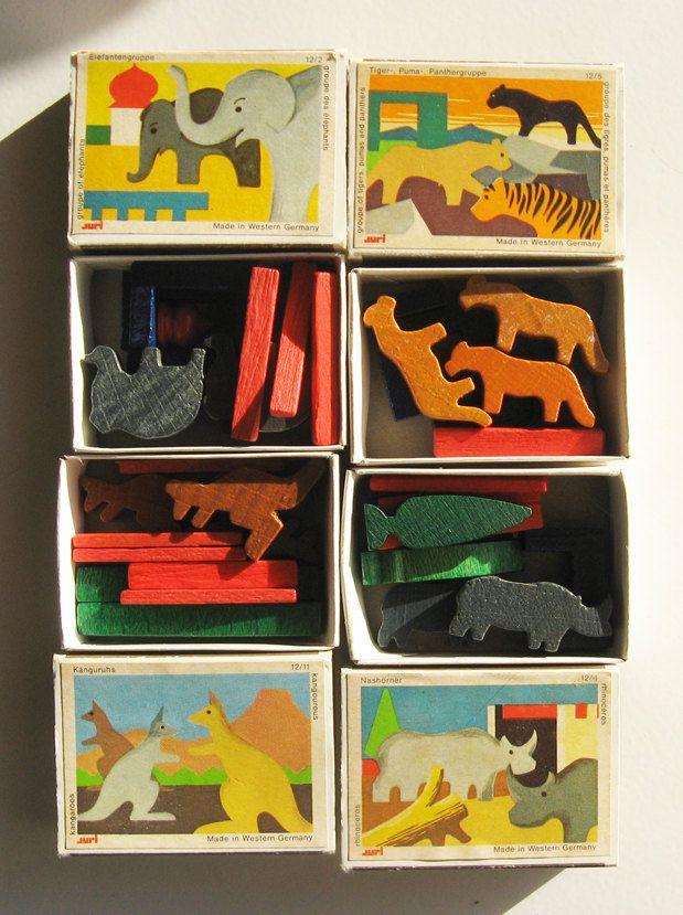 Vintage German Toys Wooden Animal by littlebearandbunny on Etsy