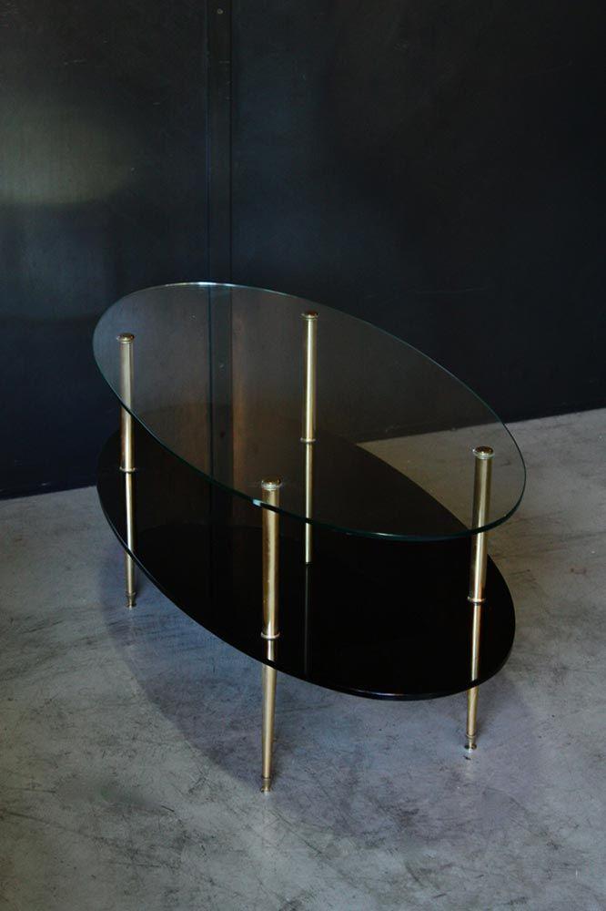 Table Basse Annees 50 En 2020 Table Basse Table Basse Vintage Plateau En Verre
