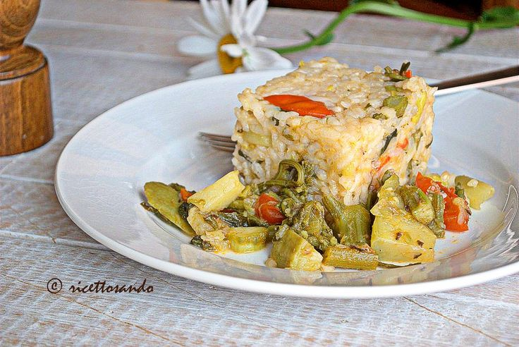 Riso vegetariano con tenerumi  #ricetta di @luisellablog
