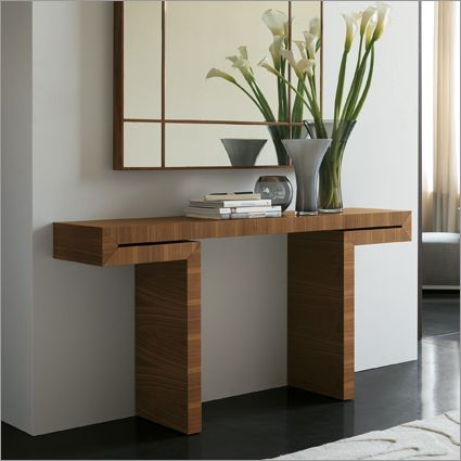 porada miyabi console table, canaletto walnut by g. viganò