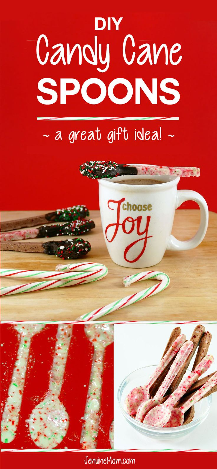 DIY Candy Cane Spoons | Great DIY Christmas Gifts! | handmade holiday present