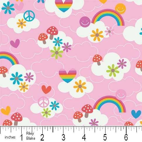 FQ0243 Feeling Groovy - Doodlebug Designs - Riley Blake - FLANNEL