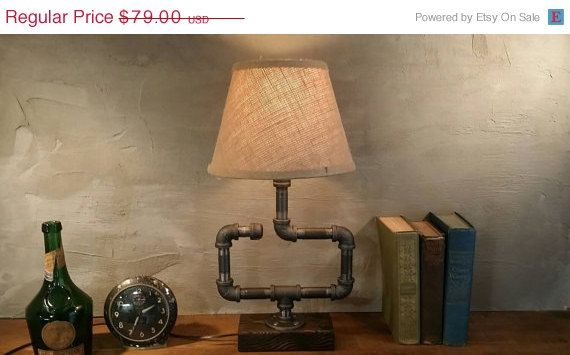 ON SALE Shaded Edison Light Metal Desk by UrbanIndustrialCraft