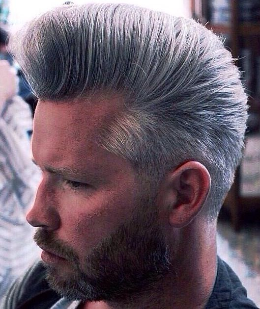 Grey Bouffant For Men Professional Hairstyles For Men