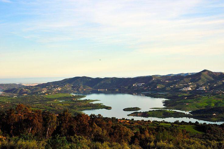 Lake Vinuela view from Periana