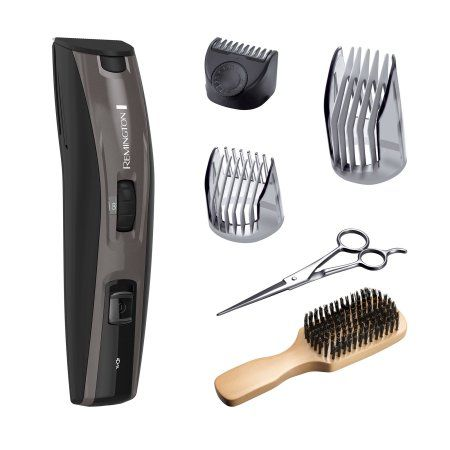 Remington The Beardsman Beard Boss Full Beard Kit, Platinum, Mustache Trimmer, Beard Trimmer, MB4045B, Gray
