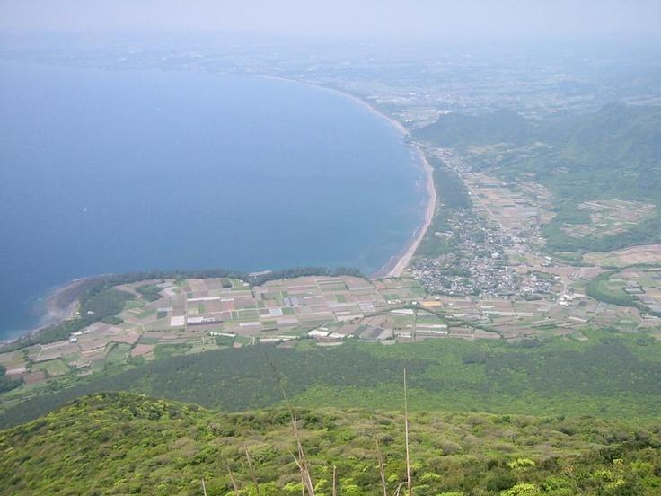 開聞岳より枕崎方面  Makurazaki townscape view from Mt.Kaimon