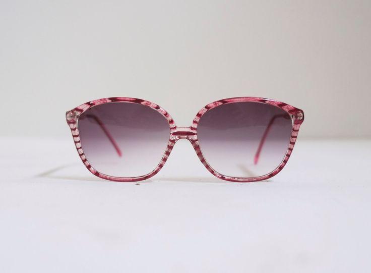 Italian Pink Acrylic Two Tone Mod Stripe Vintage Gradient Eyeglasses Sunglasses Frames by ARCHIVO on Etsy https://www.etsy.com/listing/208527149/italian-pink-acrylic-two-tone-mod-stripe