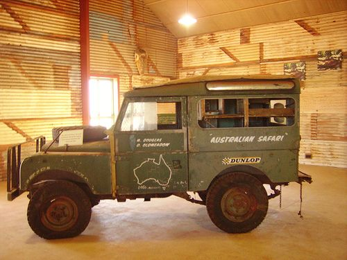 This is the Land Rover used by Malcolm Douglas, the 'real' Dundee Crocodile in Australia.