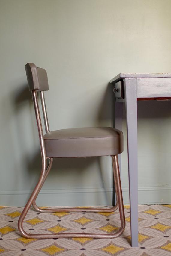 Chaise Atelier Industrielle Biennaise Vintage Table A Dessin