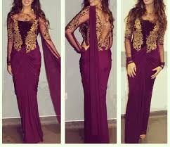 Jadore et je suis vraiment inspire par les robes indiennes ! Voila une robe indienne couleur pruneau.