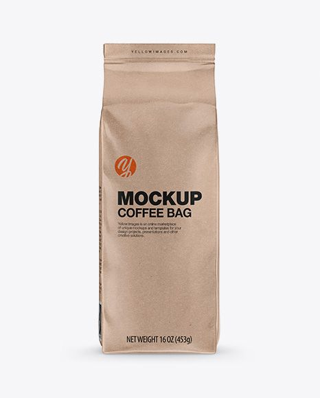 Download Kraft Coffee Bag Mockup Front View In Bag Sack Mockups On Yellow Images Object Mockups Mockup Free Psd Bag Mockup Business Card Mock Up