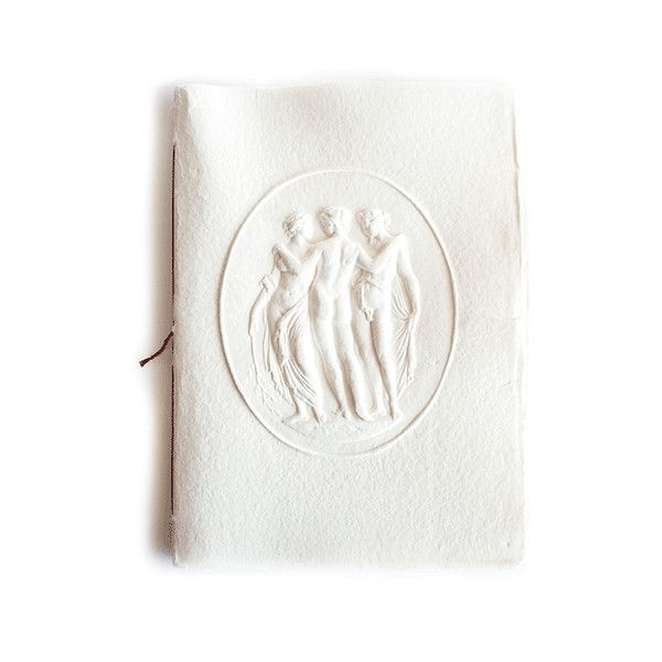 Assouline Three Graces Notebook (€210) found on Polyvore featuring home, home decor, stationery, gifts and red