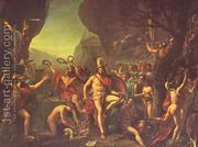 Leonidas at Thermopylae 1814  by Jacques Louis David
