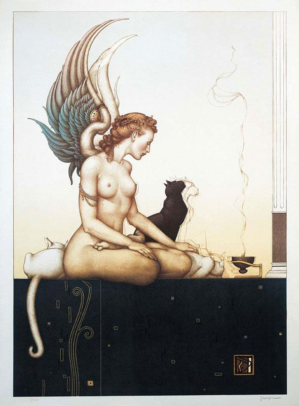 """Michael Parkes, """"Morning"""" - 1992. This is my personal favorite #lithograph Michael Parkes has done."""