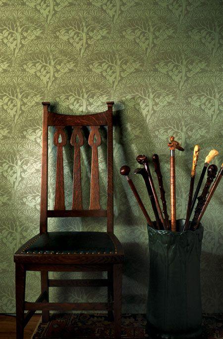 Bradbury & Bradbury | Arts & Crafts Wallpaper | Savaric Wall fill