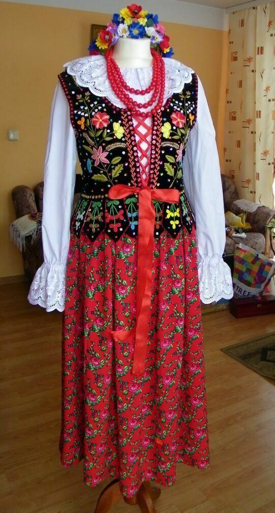 stroj ludowy goralski   Spódnica ,strój krakowski, góralski,regionalny ,ludowy,FOLK Beskid ...