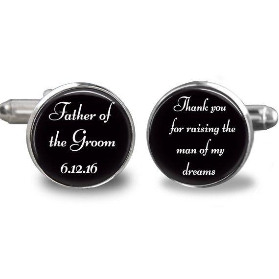 Vader van de bruidegom manchetknopen dank u voor het