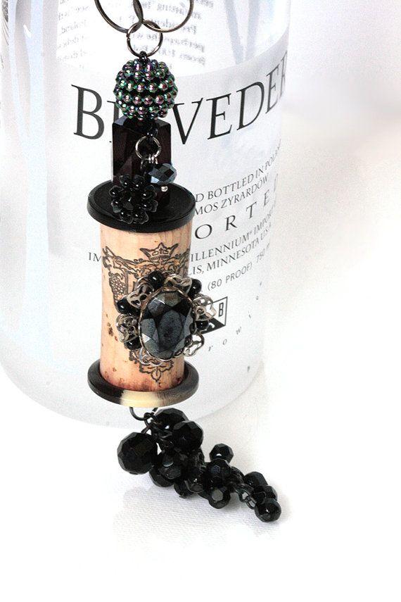 Cork Bella Vintage Black Berry by MMVintageSweets on Etsy