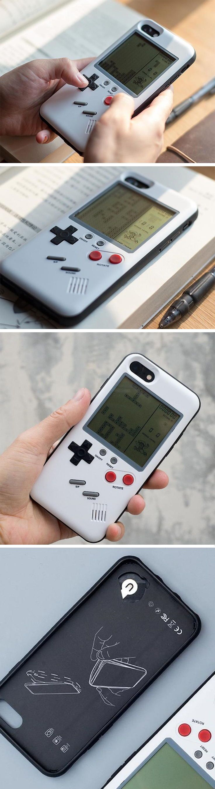 The Wanle phone case for the iPhone turns your futuristic device into a slice of retro gaming heaven. It uses the backside of your phone and turns it into a retro Gameboy of sorts, letting you play classic games like Tetris, Tank, F1 Racing, and the legendary Snake. Without inhibiting any of your iPhone's functions or ports, the Wanle case sits nicely on the back of your smartphone, turning what would be just a plain metal surface into a gamer's paradise. BUY NOW!