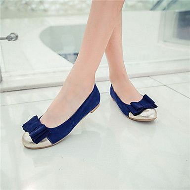 Girls' Shoes Casual Round Toe  Flats Black/Blue/Pink