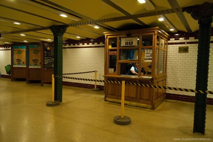 Old metro ticket office, Budapest, Hungary