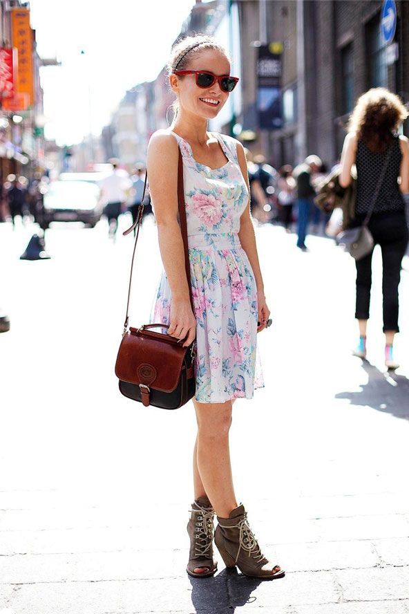 :): Summer Street Styles, Dresses Shoes, London Summer Style, High Street Fashion, Celebrity Fashion, London Street Styles, Girls Eye, Girls Style, Floral