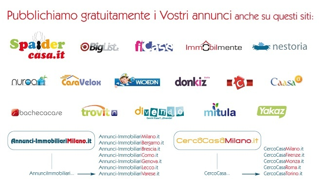 Pubblichiamo gratuitamente i Vostri annunci anche su questi siti.  http://www.cambiocasa.it/case_it/registrazione_agenzie_intro.aspx