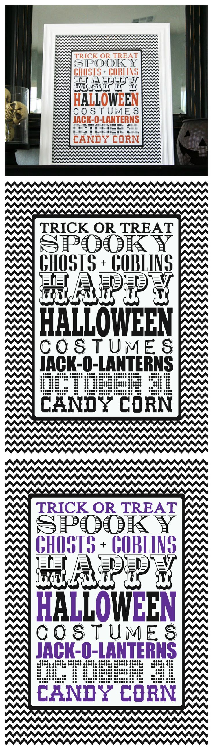 Free Printable Halloween Subway Art
