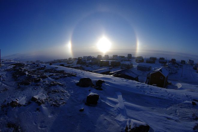 not my photo... Sun Dog effect in Iqaluit, NU