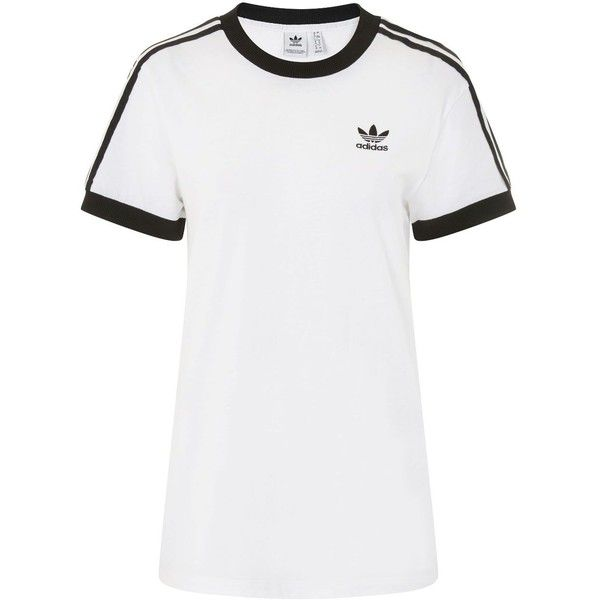 'California' T-Shirt by Adidas Originals ($35) ❤ liked on Polyvore featuring tops, t-shirts, white tee, retro tops, retro t shirts, white top and topshop tops