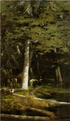 In the Forest - Giuseppe de Nittis