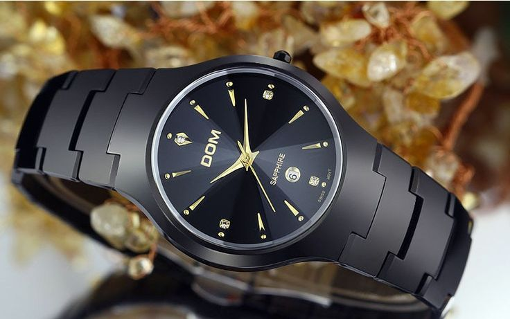 Shipped within 4-15 days  http://www.jijystore.ca/product/luxury-dom-sapphire-watches-200m-water-resistant-men-women/   Was 492.67$ Now 195$   Luxury DOM Sapphire Watches 200m Water Resistant For Men and Women. Chic, glamour, classic, watch made for business men, for women looking to have this exceptional classic look, for lovers who want to share love moments, to wear the same stuff. Scratch and water resistant (200m). You will be satisfied for the quality of this beautiful watch.