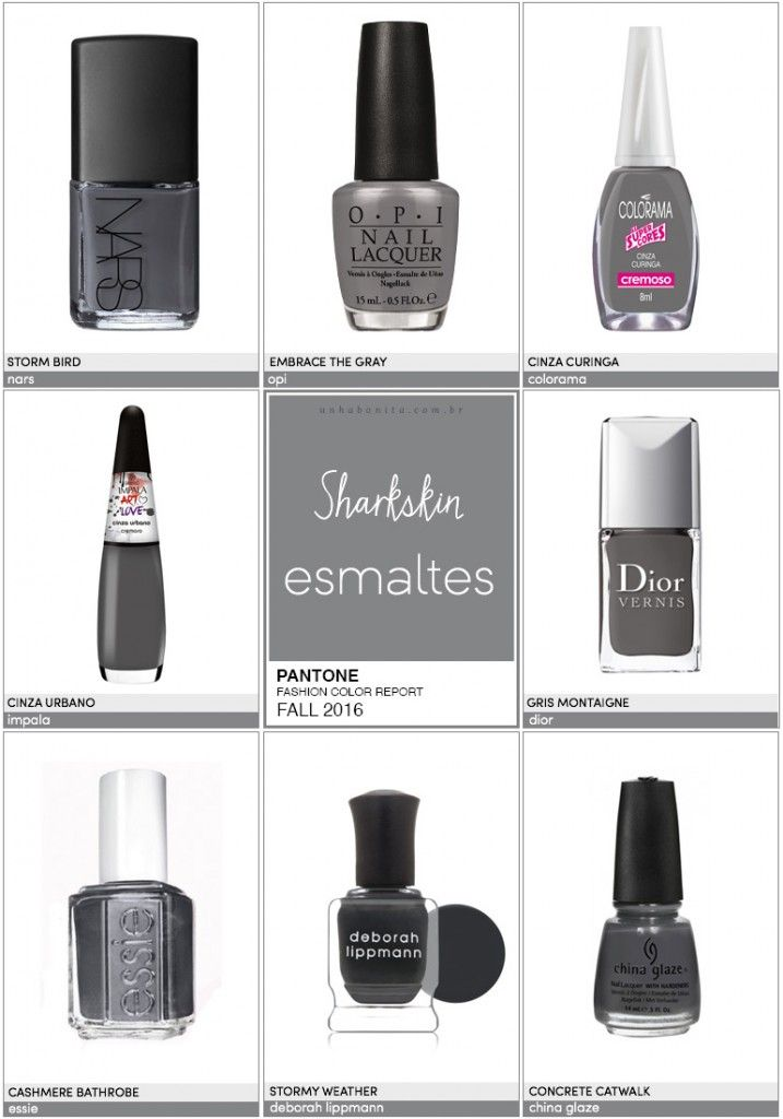 Pantone Fashion Color Report FALL 2016 | 3/10 | Sharkskin - Unha Bonita