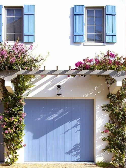 Periwinkle Garage Door