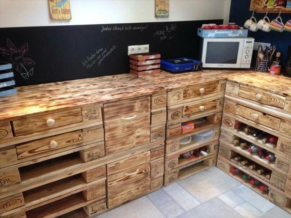 diy möbel europaletten kücheneinrichtung unterschränke